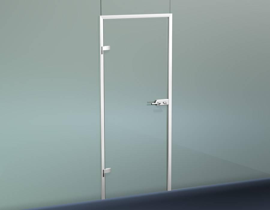 Распашные двери в алюминиевой коробке
